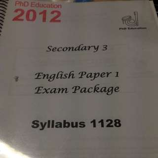 1128 English o Level Study Package Paper 1