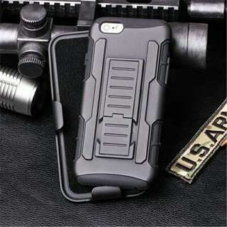 Military Grade Rugged Shockproof Phone Case Cover Protector With Kickstand And Belt Holster