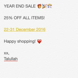 ❗️YEAR END SALE❗️
