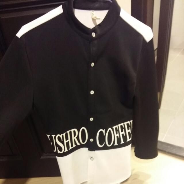 太空棉窄版韓風襯衫