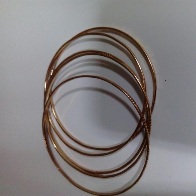 金色細手環一組5個