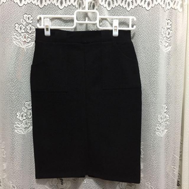 黑色包臀裙 厚