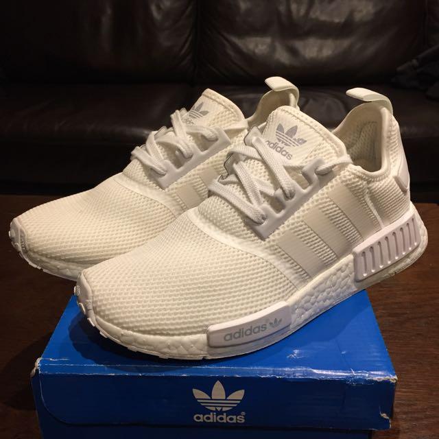 Adidas NMD Runners - Triple White 7.5 (men) 8.5 (women)