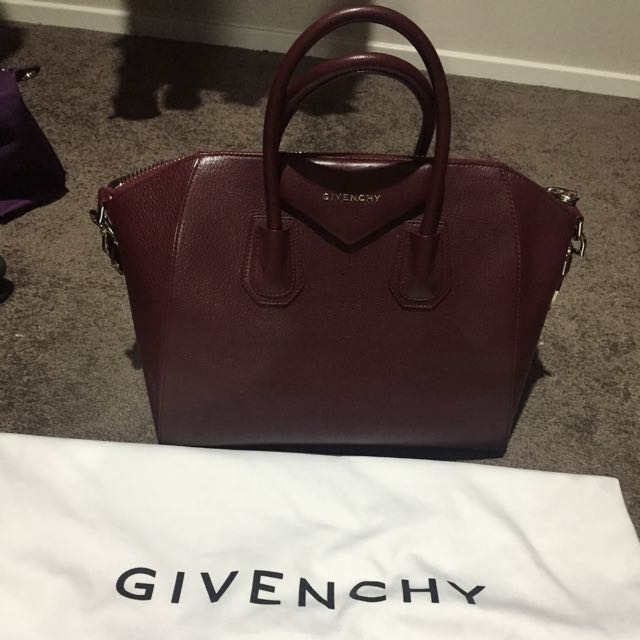 Authentic Givenchy Antigona In Burgundy Colour