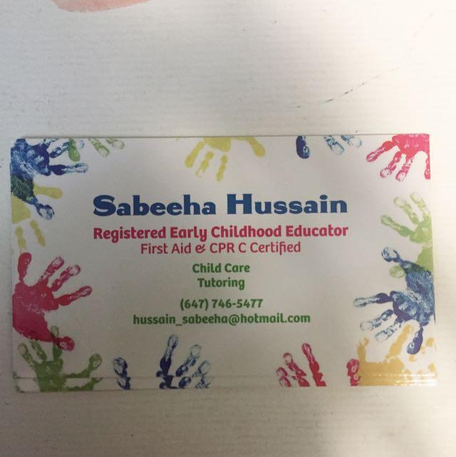 Babysitting/tutoring