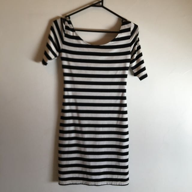 Backless Striped Mini