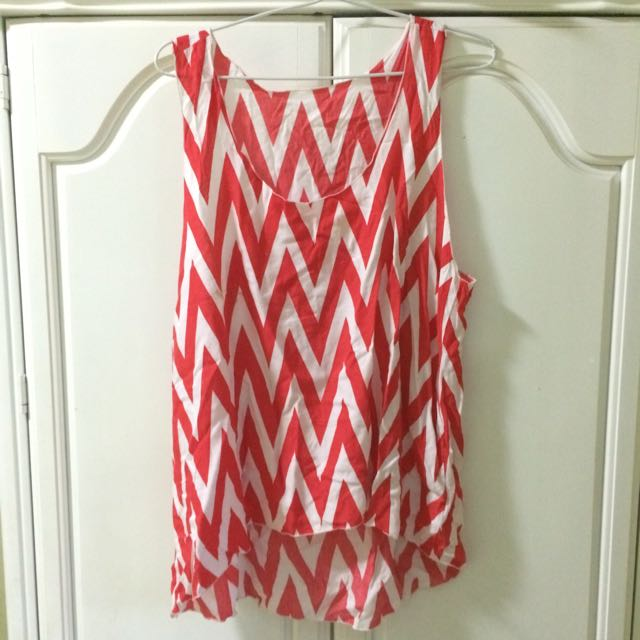 Bali Tanktop Red White Preloved