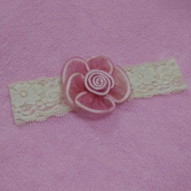 Bandana Bayi - Pink Flower