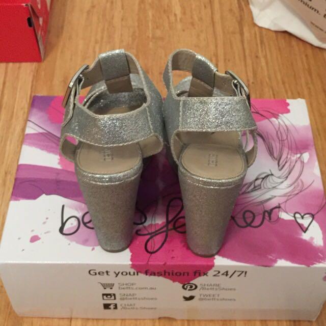 BETTS - Silver Wedge Heels