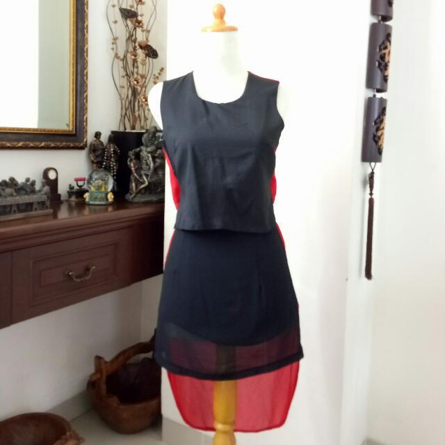 Black X Red Loubie Dress