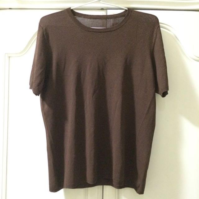 Brown Loose Blouse Preloved