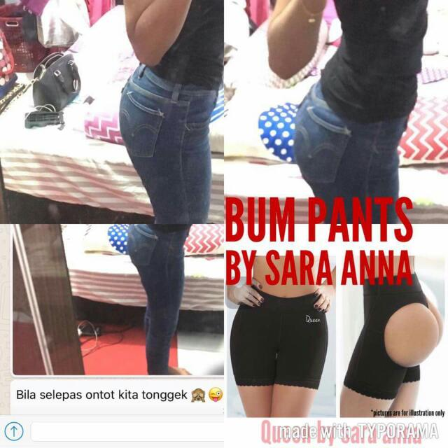 fd5b3b4359396 Bump Push Up Pants, Fesyen Wanita, Aksesori di Carousell