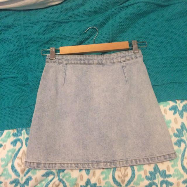 Dotti Denim A-Line Skirt