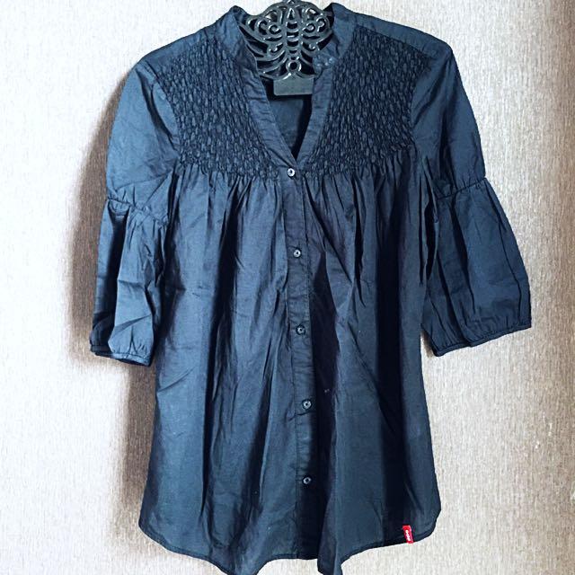 ESPRIT Black Shirt Button Up