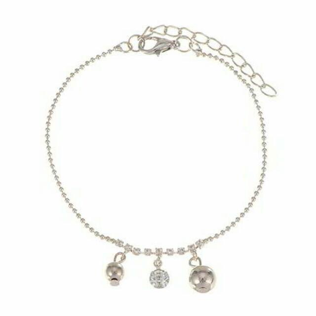 [SOLD OUT] Gelang Kaki (Anklet) Korea diamond pendant simple