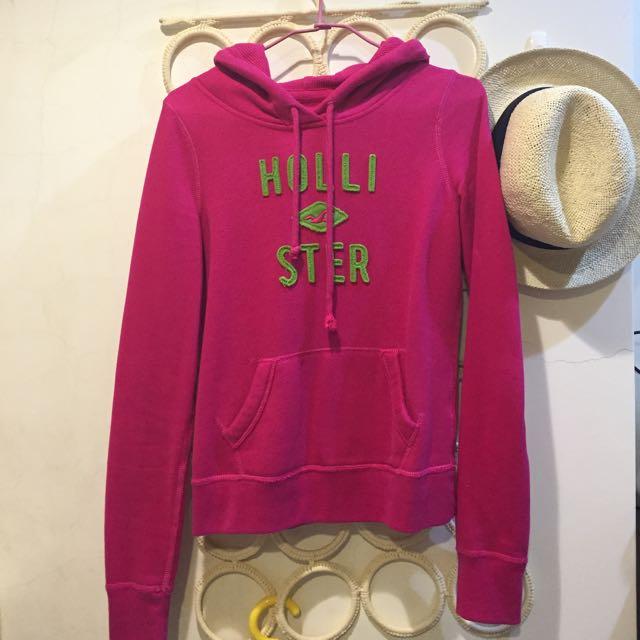 Hollister粉紅帽T