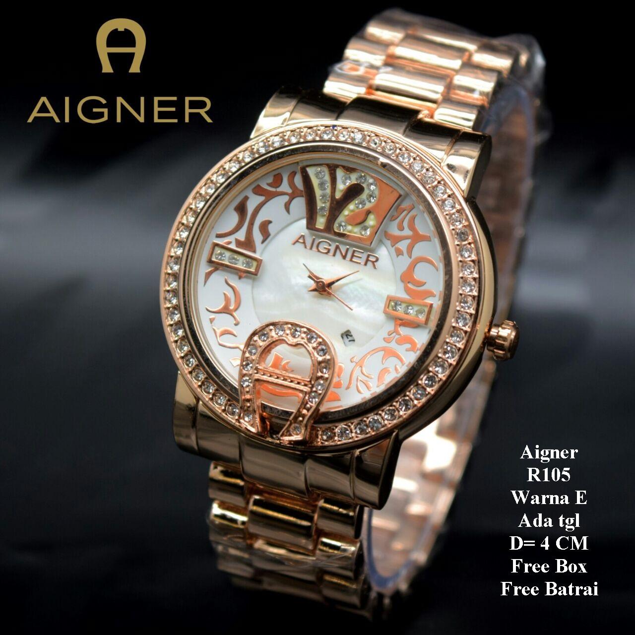 Harga Jual Jam Tangan Wanita Aigner Premium 142500 Limited A16253 Siena Biru Rosegold Cewek Murah Batik Rose Gold Color Box