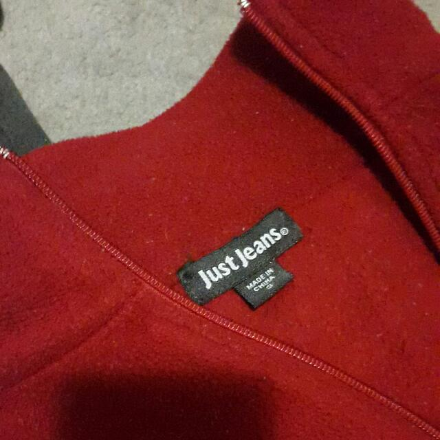Just Jeans Red  Jacket Size S