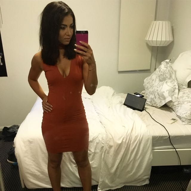 Kookai Burnt Orange Dress