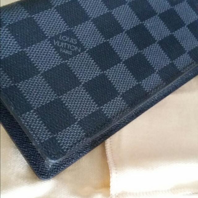 newest e96f9 751f6 Lv Louis Vuitton men Long Wallet N62227 Damier Graphite ...