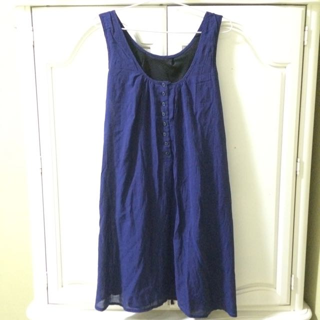 Navy Midi A-Line Dress Preloved