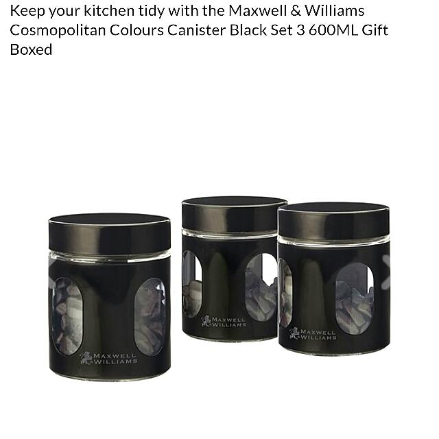NEW Maxwell & Williams 600mL Canister Set