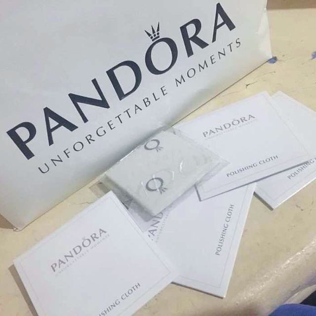 Pandora Polishing cloth, box, paper bag