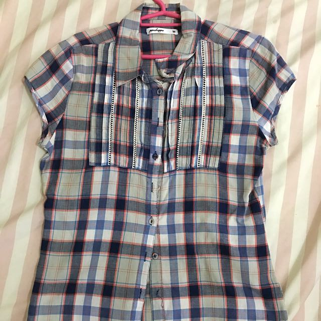 Penshoppe Plaid Polo Blouse