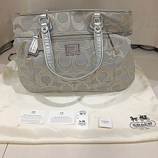 Preloved Coach Poppy Glam Tote Bag