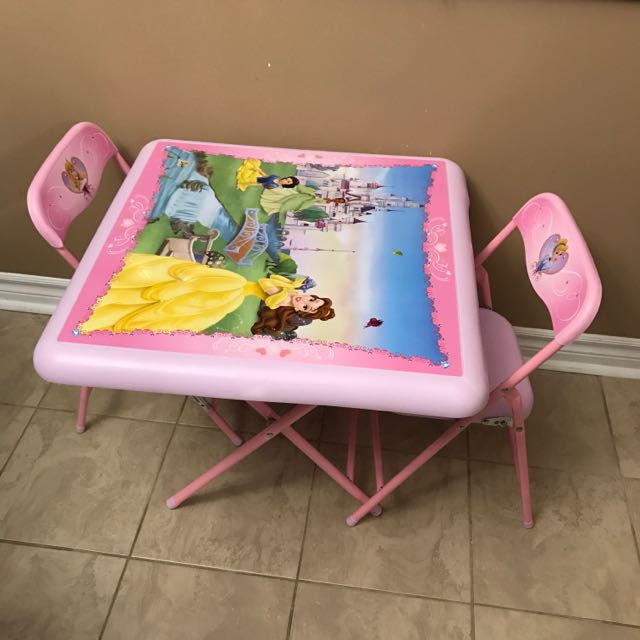 Princess Table And 2 Chairs