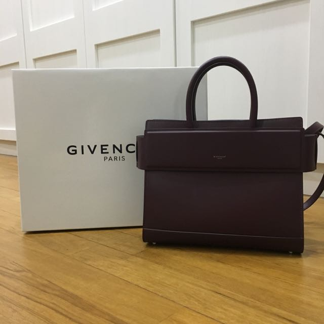 PRISTINE GIVENCHY HORIZON SMALL LEATHER SHOULDER BAG IN OXBLOOD ... 6c51730d92222