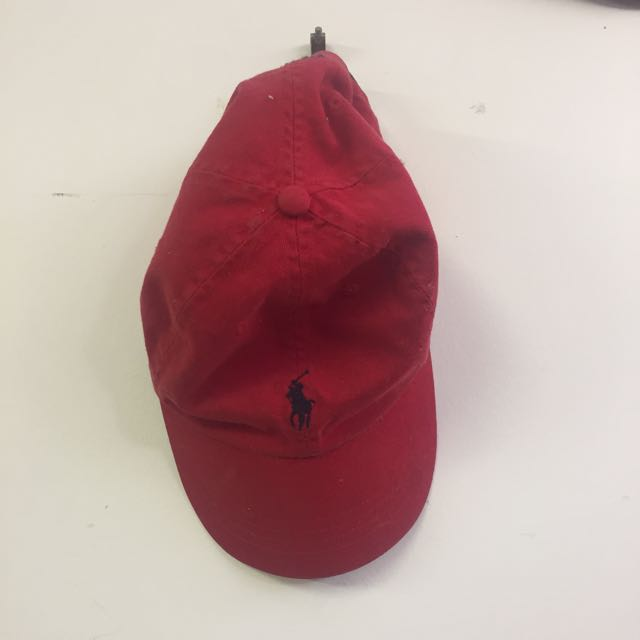 RED POLO RALPH LAUREN HAT