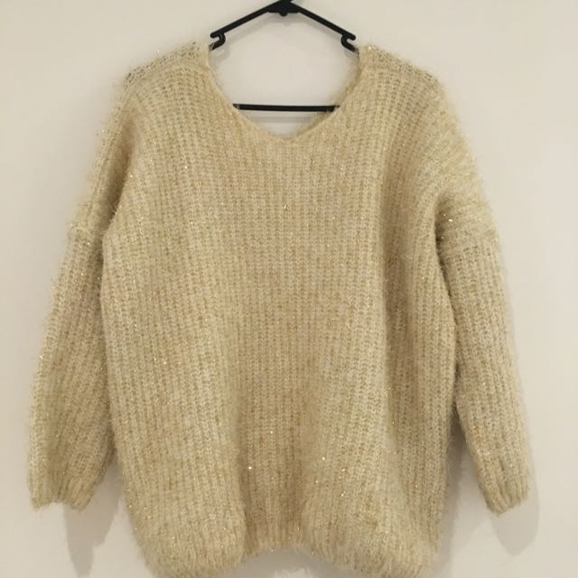 Sequin Details Sweater
