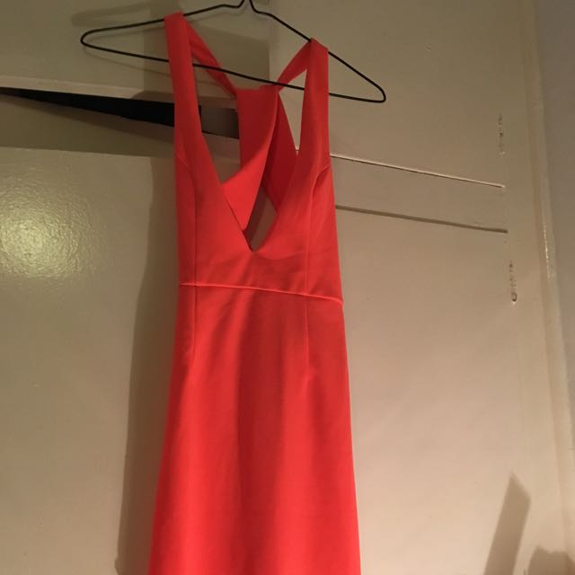 Shareen Orange And Pink Dress