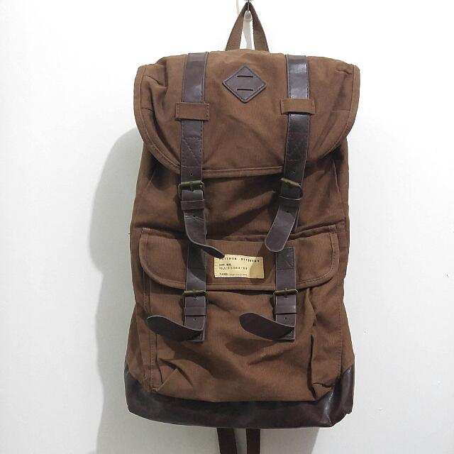 Tas Backpack Divided By H&M Warna Coklat