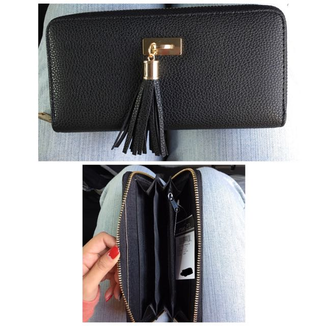 Tassel Black Leather Wallet - RUE 21