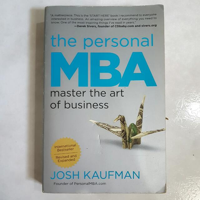 The Personal MBA by Josh Kaufman, Books & Stationery