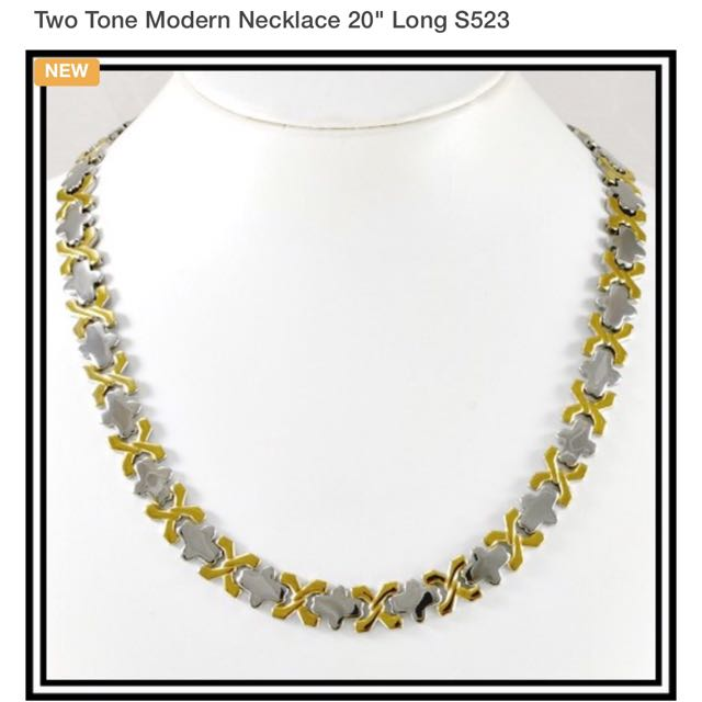 Two Tone Modern Necklace