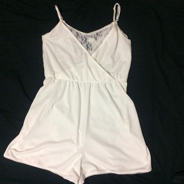 White H&M Lace Romper