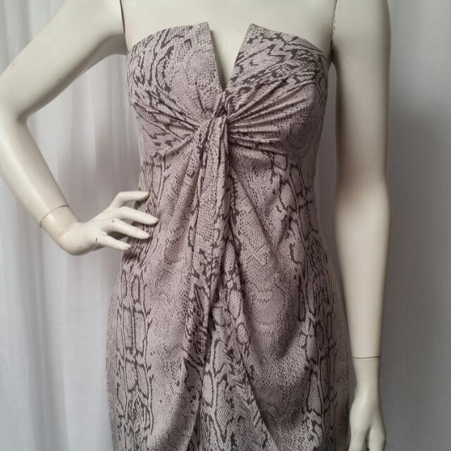 Zimmerman snake print twist dress