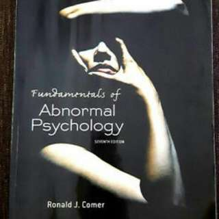 Fundamentals of Abnormal Psychology 7th Edition- R. Comer