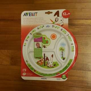 Philips Avent 12month+ Plate With Divider and Anti-slip Base (0%BPA)