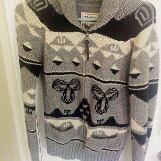 100% Wool Grey TNA Sweater
