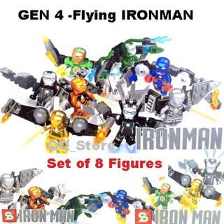 Ironman Building Blocks X 8 Mini Figures