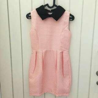 Collar Dress Pink