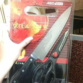 艾仕達 Asd 剪刀 棧板 刀子 用具組