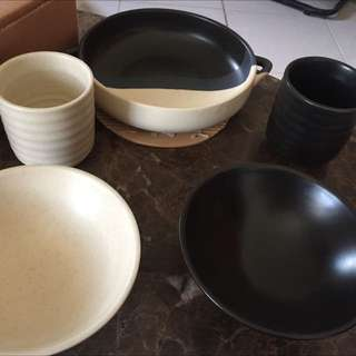 日式和風茶具組杯子碗盤典雅風格
