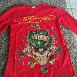 Size M Ed Hardy Long Sleeve Shirt