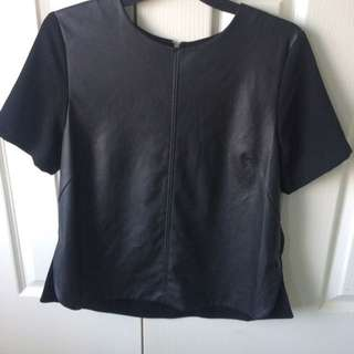 Leather Top / T-shirt