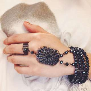 LOVISA Dark Blue Ring/Bracelet